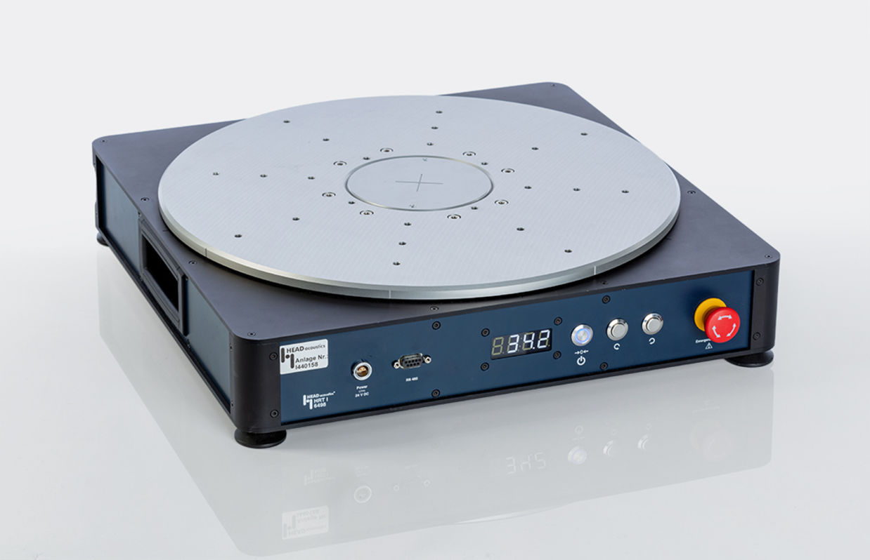 Front view of turntable HRT I
