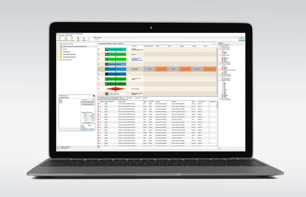 Mit VoCAS Spracherkennungssysteme auf dem Laptop testen