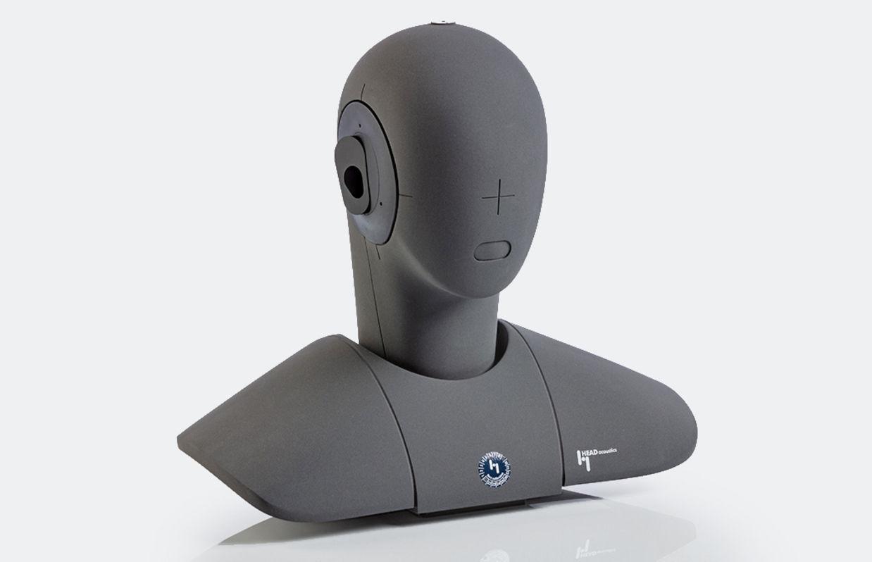 HSU III: Kunstkopf mit Kondensatormikrofonen