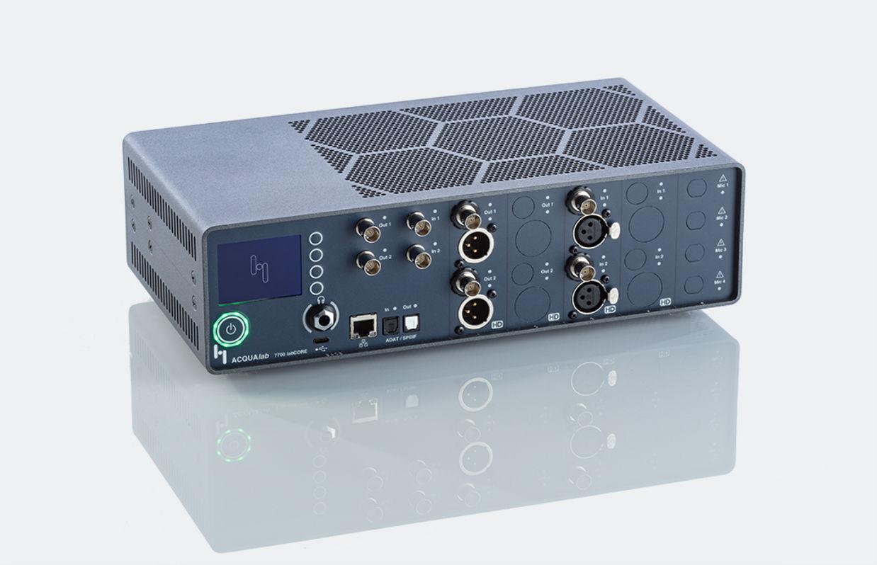 Frontansicht der Hardware-Plattform labCORE