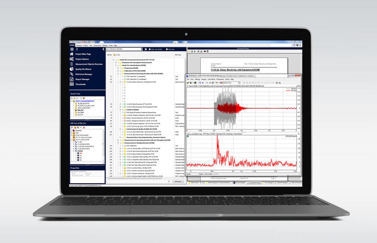 HQS Test-Suite auf dem Laptop