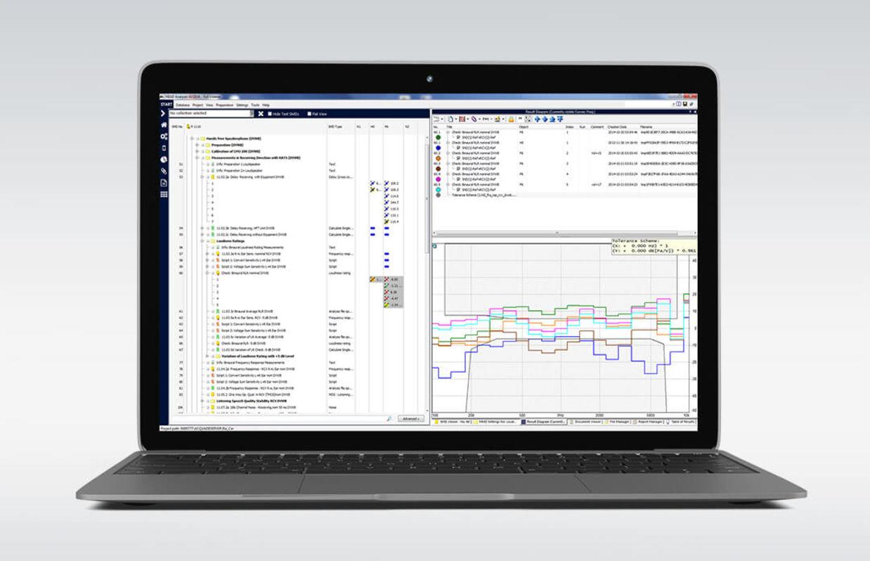 ACOPT: Software-Optionen für ACQUA auf dem Laptop