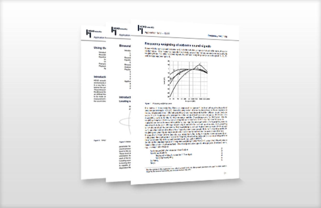 Application Notes Sound & Vibration - Head Acoustics GmbH