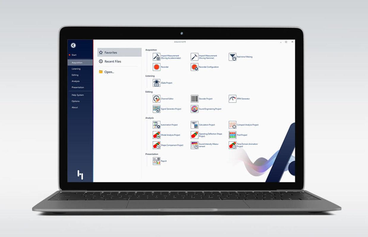 ArtemiS SUITE – Software platform, Interface