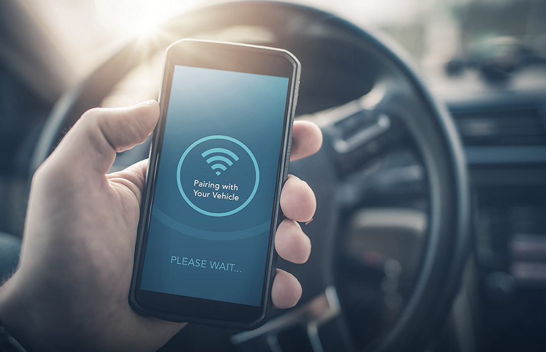 Pairing the smartphone with the car via Bluetooth