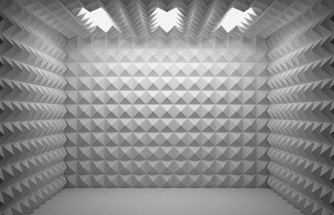 Prüfstand mit Schallschutz