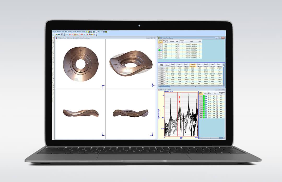 ME'scopeVESTM– Modal Analysis Software Interface