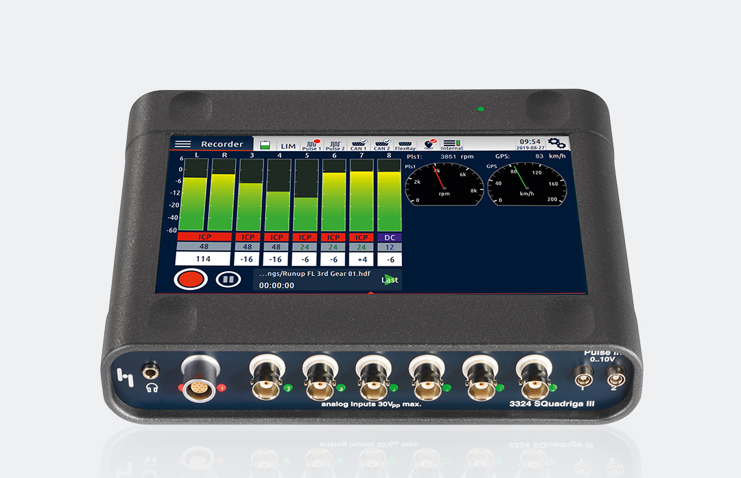 SQuadriga III – Standard system for mobile sound and vibration measurement