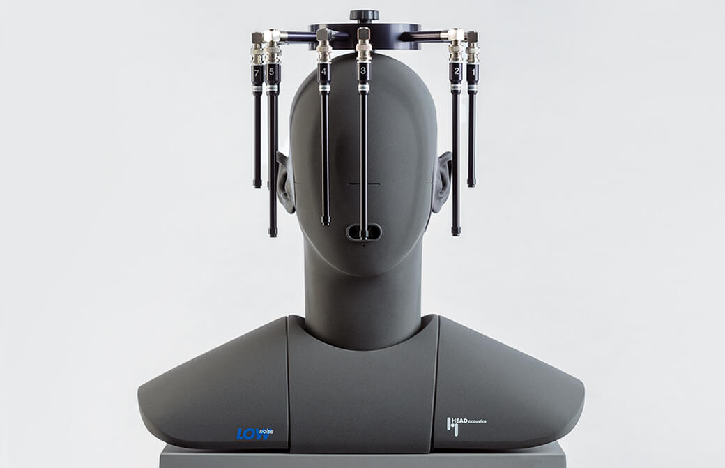 Microphone array MSA I mounted on an artificial head