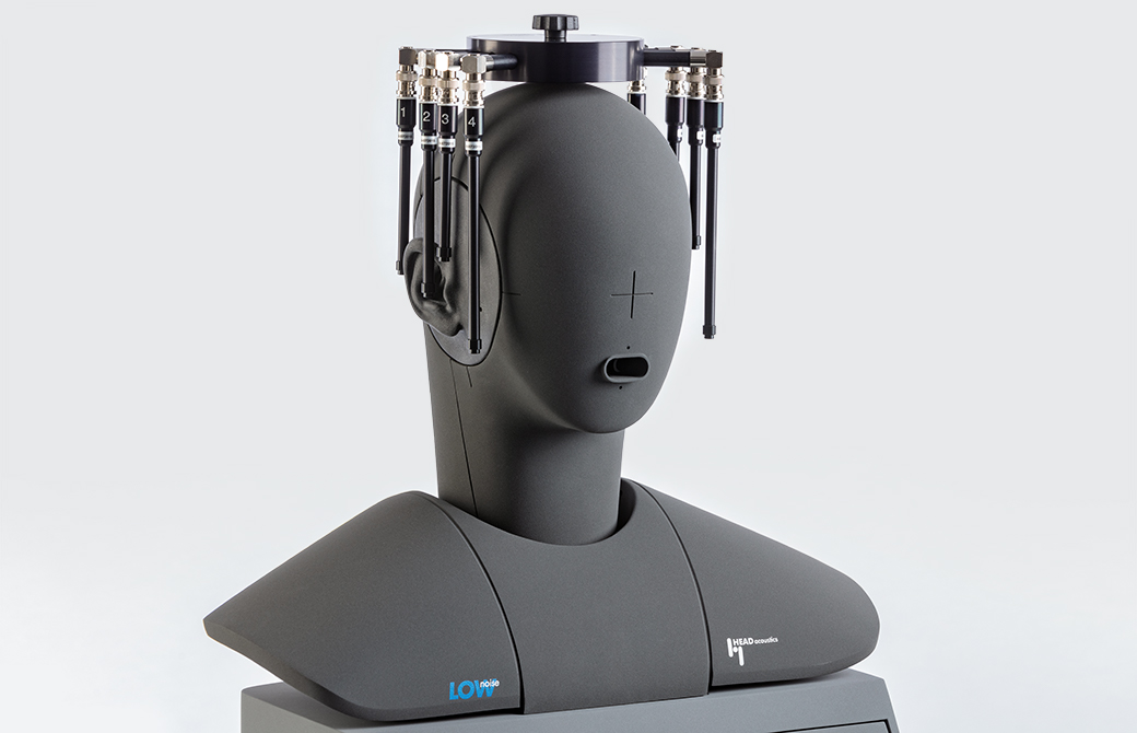 Microphone array MSA II mounted on an artificial head